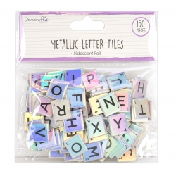 Dovecraft Essentials Metallic Letter Tiles (DCBS226)