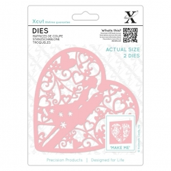 Xcut Dies - Couple in Heart 2pcs (XCU 503087)