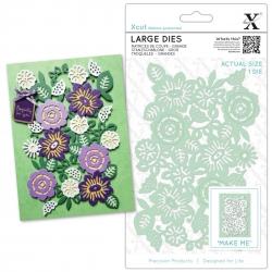 Xcut Large Dies - Floral Panel 1pc (XCU 504027)
