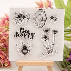 Clear Stamp - Bee Happy (6pcs)