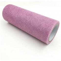 Glitter Mesh Tulle - Dusky Pink (15cm x 10yds)