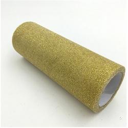 Glitter Mesh Tulle - Gold (15cm x 10yds)