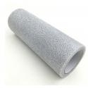 Glitter Mesh Tulle - Silver (15cm x 10yds)