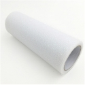 Glitter Mesh Tulle - White (15cm x 10yds)