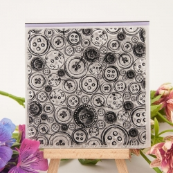Clear Stamp - Button background (1pc)