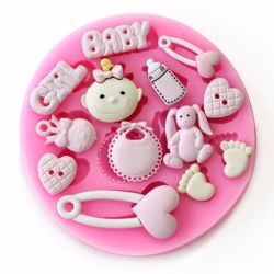Small Silicone Mould - Baby Girl