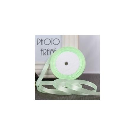6mm Satin Ribbon - Light Green (25 yards)