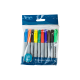 Multi Coloured Permanent Marker-pens - 10 Pack (U-80399)