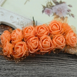 Foam Roses - Pale Orange (Bunch of 12)