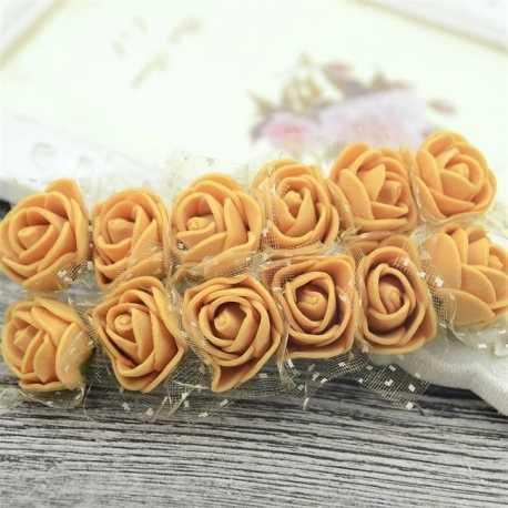 Foam Roses - Tan (Bunch of 12)