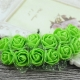 Foam Roses - Green (Bunch of 12)