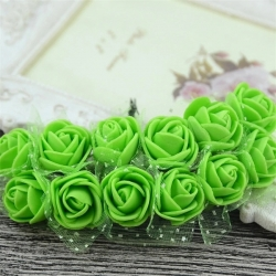 Foam Roses - Green (Bunch of 12)