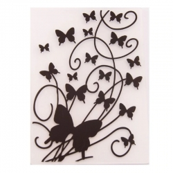 A6 Embossing folder - Butterfly Burst