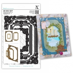A5 Die Set - Ornate Frames Square 3pcs (XCU 503250)