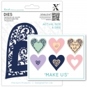 Xcut Dies - Folk Bird Heart 6pcs (XCU 504089)