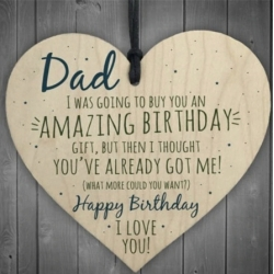 Wooden sign - Dad Happy Birthday (1pc)
