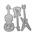 Printable Heaven die - Guitar set (3pcs)