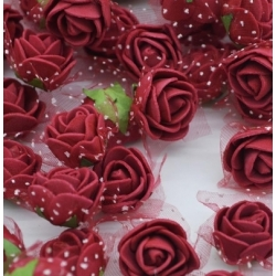 Stemless Foam Rose-heads - Wine (50pcs)