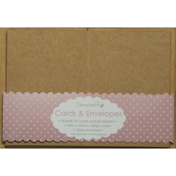 Dovecraft Kraft 20 Mini Kraft Cards and Envelopes (DCCE030)