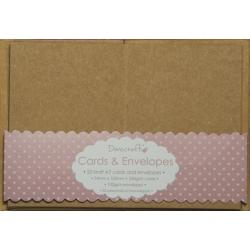 Dovecraft Kraft 20 Mini Kraft Cards and Envelopes (DCCE030)