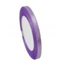 6mm Gold-Edge Satin Ribbon - Lilac (25 yards)
