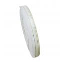6mm Metallic-Edge Satin Ribbon - White (25 yards)
