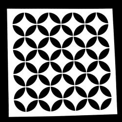 13 x 13cm Reusable Stencil - Retro Circles (1pc)