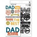 A5 Die Set - Dad Text 14pcs (XCU 503187)