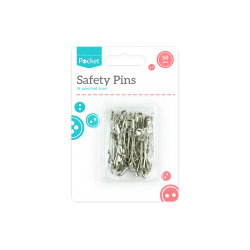 Safety Pins Assorted 50 pack (HOM1045)