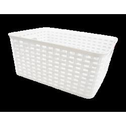 Rattan Effect Storage Basket - Small White (HOM2914OB)