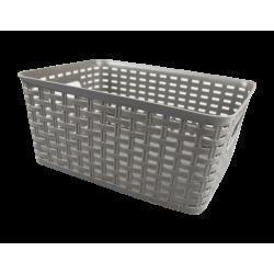 Rattan Effect Storage Basket - Large Grey (HOM2915OB)