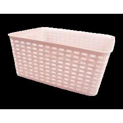 Rattan Effect Storage Basket - Large Pink (HOM2915OB)
