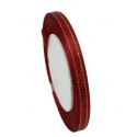 6mm Gold-Edge Satin Ribbon - Wine Red (25 yards)