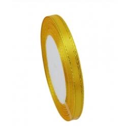 6mm Gold-Edge Satin Ribbon - Daffodil Yellow (25 yards)