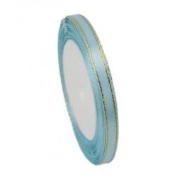 6mm Gold-Edge Satin Ribbon - Light Blue (25 yards)