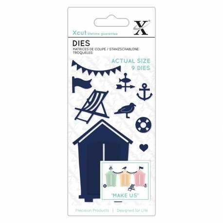 Small Dies - Beach Hut 9pcs (XCU 503341)