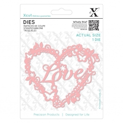 Xcut Dies - Love Heart 1pc (XCU 503382)