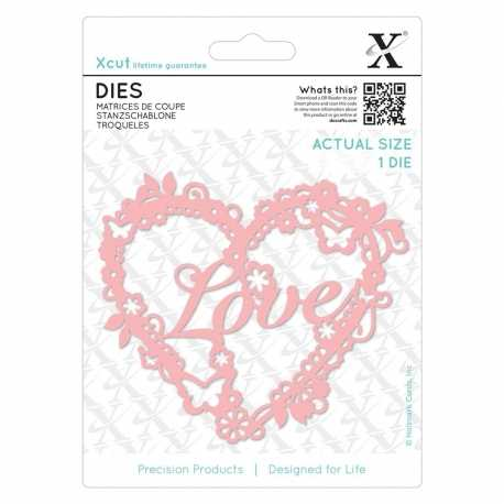 Dies - Love Heart 1pc (XCU 503382)