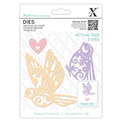 Xcut Dies - Patterned Birds 3pcs (XCU 504075)