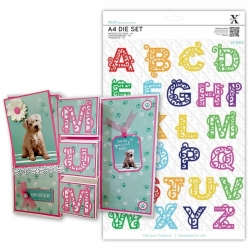 A4 Die Set - Filigree Alphabet 26pcs (XCU 503440)
