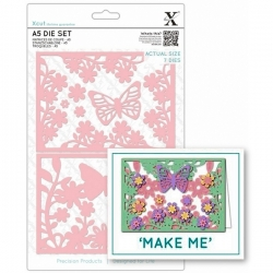 A5 Die Set - Wild Butterfly 7pcs (XCU 503314)