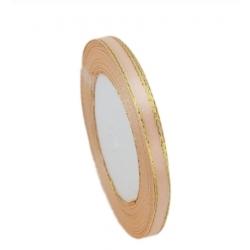 6mm Gold-Edge Satin Ribbon - Peach (25 yards)