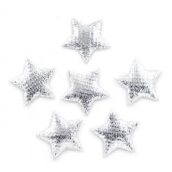 Padded Stars Silver (60pcs)