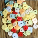 Teddy Buttons Assorted (20pcs)