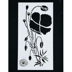 Medium Reusable Stencil - Poppies (1pc)