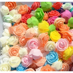 Stemless Foam Rose-heads - Multi (50pcs)
