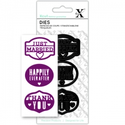 Small Dies - Just Married 3pcs (XCU 503268)