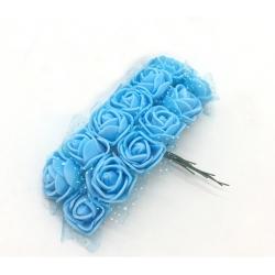 Foam Roses - Blue (Bunch of 12)