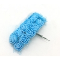 Foam Roses - Blue (Bunch of 12)
