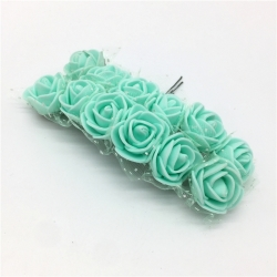 Foam Roses - Mint Green (Bunch of 12)